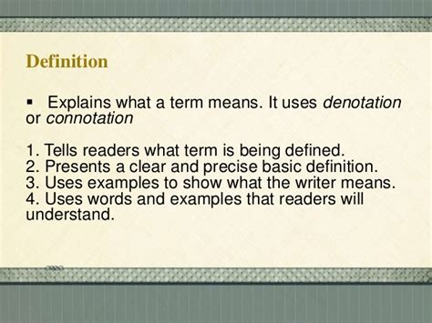 pattern definition for elementary students methods of paragraph development