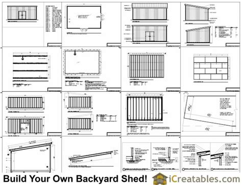16x24 Shed Plans Free by 16x24 Lean To Shed Plans Large Lean To Shed Plans