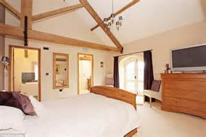 bedroom sound system stone barn conversion on grounds of 15th century snape