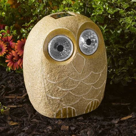 Owl Patio Lights Smart Solar Bright Eye Stony Owl Solar Light On Sale Fast Delivery Greenfingers