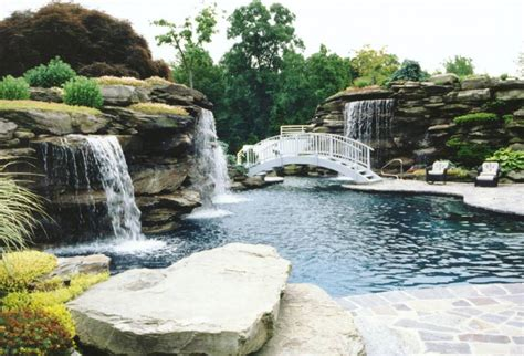 pools with waterfalls swimming pools hickory hollow landscapers part 3