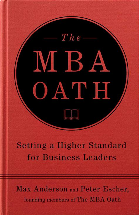 The Mba Oath Book class notes princeton class of 2001 website