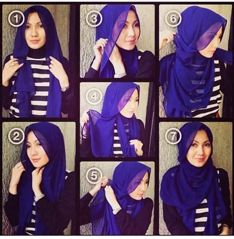 tutorial pashmina loose style shawl tutorial stepbystep flowy intip tutorial hijab