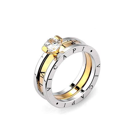 Lettering Ring top sale classic brand ring real gold plated cz
