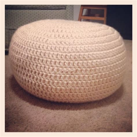 crochet ottoman pattern homemade crochet pouf ottoman footrest i will post a free