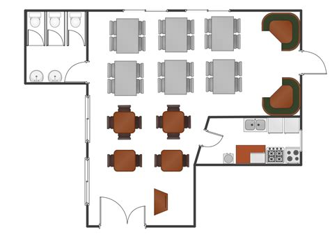 restaurant floor plan layout how to use house electrical plan software cafe