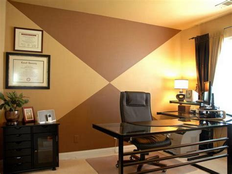 choosing the warm paint colors to make the employees to work better modern home design