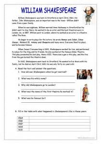 30 free esl shakespeare worksheets
