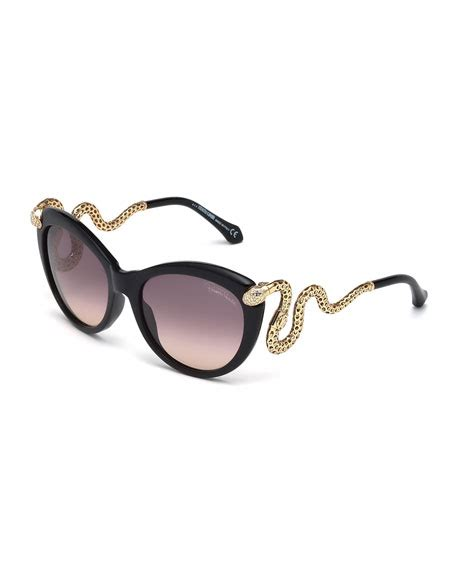 roberto cavalli snake temple butterfly sunglasses black