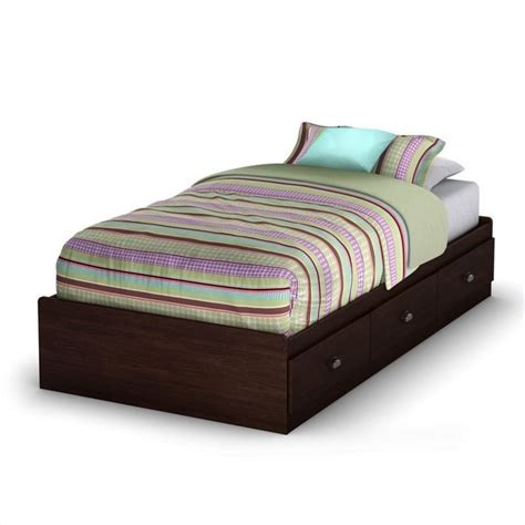 south shore twin bed south shore nathan twin mates bed in havana finish 3339212