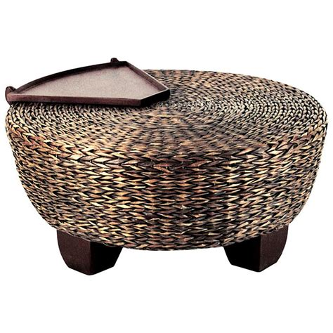 abaca ottoman hotel california round ottoman coffee table abaca