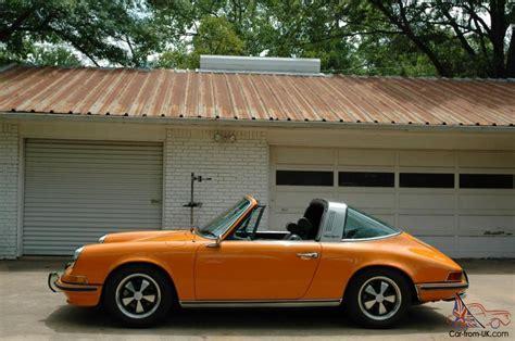 orange porsche targa 1970 porsche 911s targa signal orange