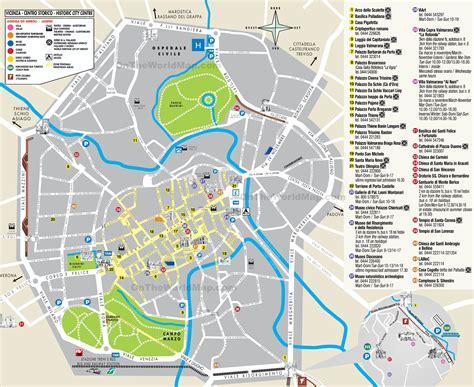 italia vicenza vicenza tourist map