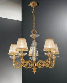 Chandelier Shades Kolarz Contarini 5 Light Gold Chandelier With Shades