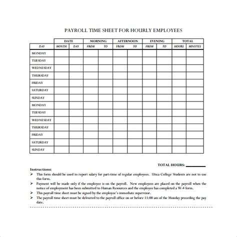 payroll sheets template payroll timesheet template 14 free documents