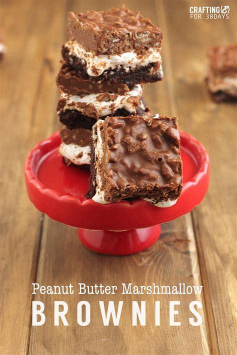 Peanuter Marshmallow Brownies Thirty Handmade Days
