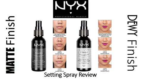 Nyx Finishing Spray rapid review nyx matte finish dewy finish makeup