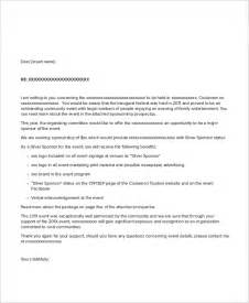 Letter For Event Sle Event Sponsorship Letter 5 Documents In Pdf Word