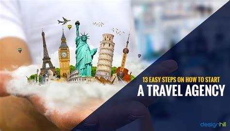 easy steps    start  travel agency