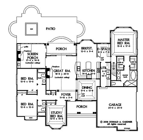 country plans country style house plan 4 beds 3 baths 2445 sq ft plan