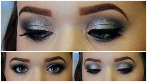 Eyeshadow Silver smokey eye makeup black and silver makeup vidalondon