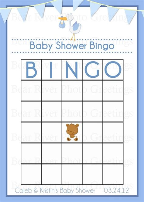 items similar to baby shower game bingo card printable