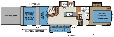 toy hauler floor plans 5th wheel toy hauler rv floor plans car interior design