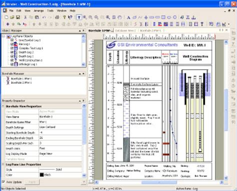 borehole log template geomem ltd geological software uk scientific software uk