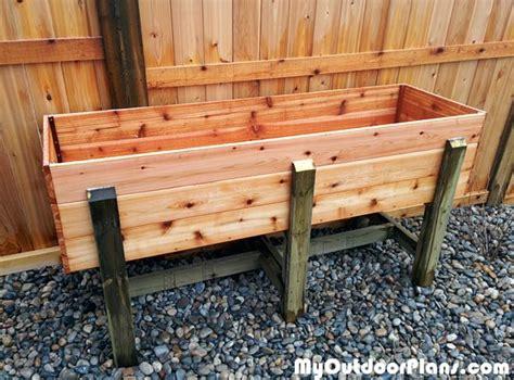 waist high raised garden bed plans diy waist high raised garden bed myoutdoorplans free