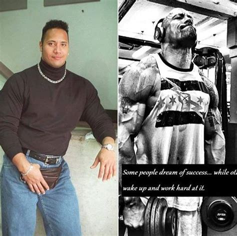 rock bodi the rock dwayne johnson transformation