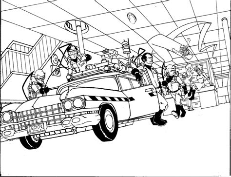 ghostbusters car coloring pages ghostbusters coloring pages coloring home