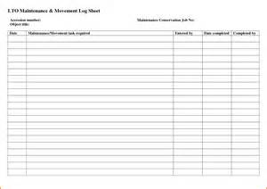 cleaning log sheet template bing images