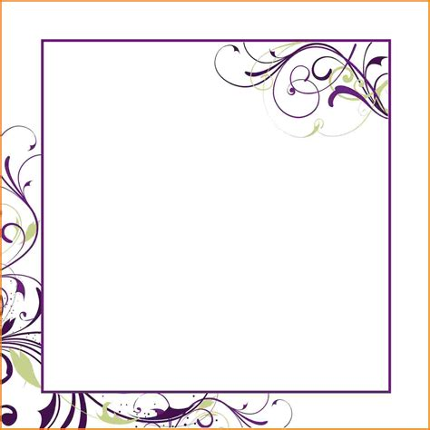 Word Invitation Template by Blank Invitation Template For Word Orderecigsjuice Info
