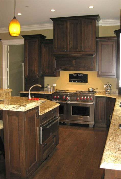 Kitchen Wall Colors With Dark Wood Cabinets | what other wall colors beside yellow tones will look good