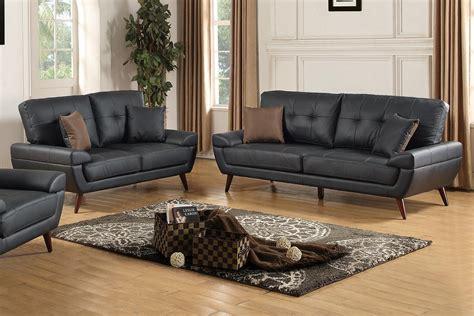 black sofa and loveseat set arri black leather sofa and loveseat set steal a sofa