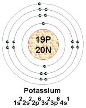 diagram of potassium atom sources