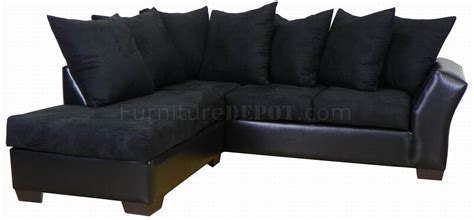 Black Fabric Sectional Sofa Black Fabric Bicast Modern Sectional Sofa