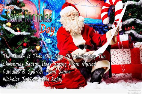 happy christmas st nicholas day quotes sayings