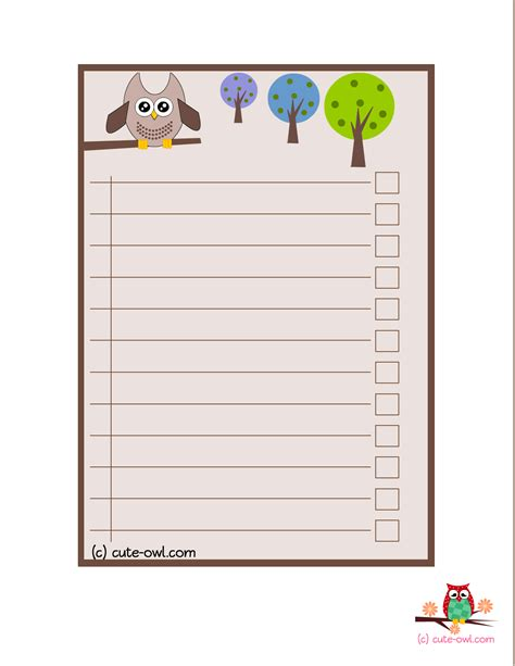 owl to do list printable 4 cute owl to do lists for the love of owls pinterest