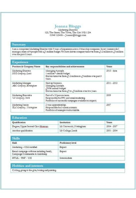 Curriculum Vitae Format In Ms Word by Cv Template Word Vitae