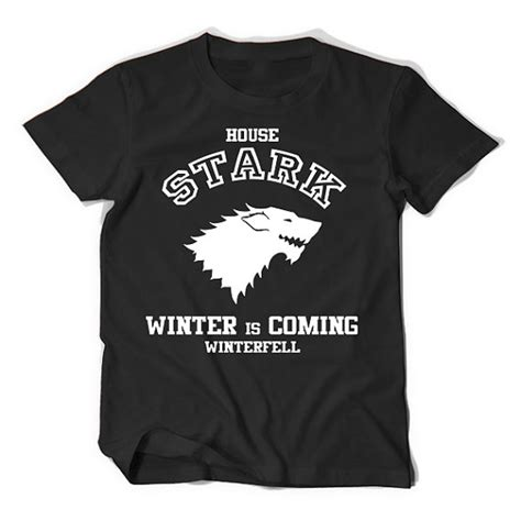 Tshirt Winter Is Coming Stark of thrones house stark winter is coming unisex t