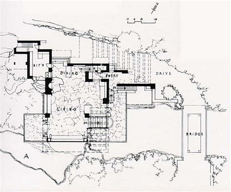 fallingwater house second floor block in architecture falling water floor plan dimensions thefloors co