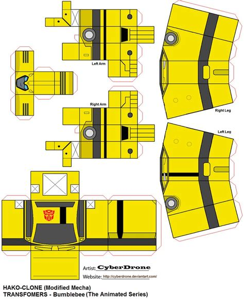 Papercraft Program - hako clone bumblebee tas by cyberdrone on deviantart