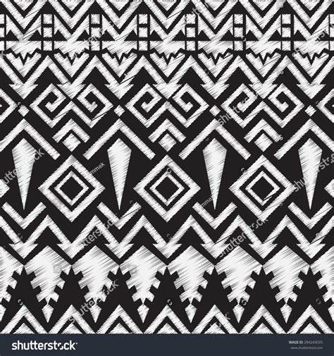 aztec tribal pattern vector ethnic doodle tribal aztec seamless pattern stock vector