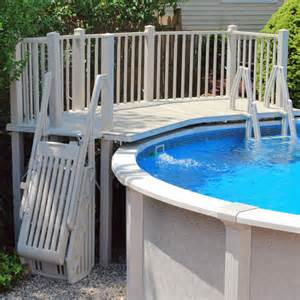 cheap theme decks above ground pool steps and ladders pool accessories