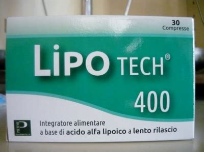 acido alfa lipoico alimenti lipotech 400 integratore alimentare a base di acido alfa