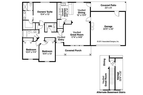craftsman home floor plans craftsman house plans stanford 30 640 associated designs