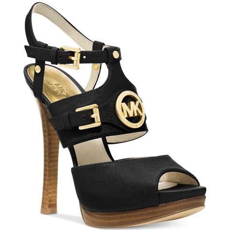 michael kors shoes michael kors michael mackenzie platform sandals in black