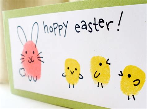 simple easter cards to make simple diy easter and bunny fingerprint
