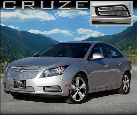 coverlet cruze chevrolet cruze chrome mesh brake duct inserts by e g
